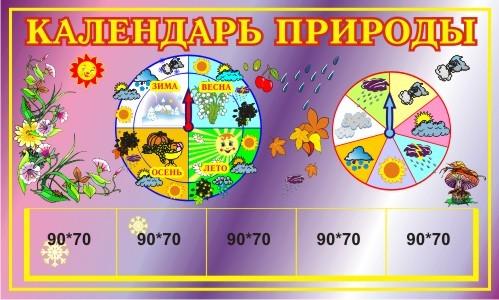 Календарь природы для младшей группы своими руками