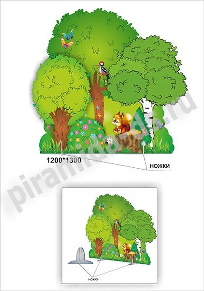 Как сделать декорации леса для спектакля