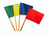 С-42 Флажки цветные на деревянной палочке